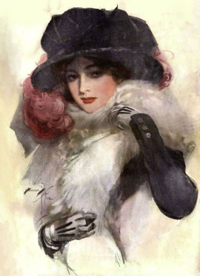 Harrison Fisher Vintage Victorian Beauty Digital File, Art Print, Instant…