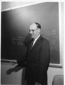 """John Bardeen, University of Illinois, father of both the transistor and superconductivity. Two Nobel Prizes in physics "" said one pinner"
