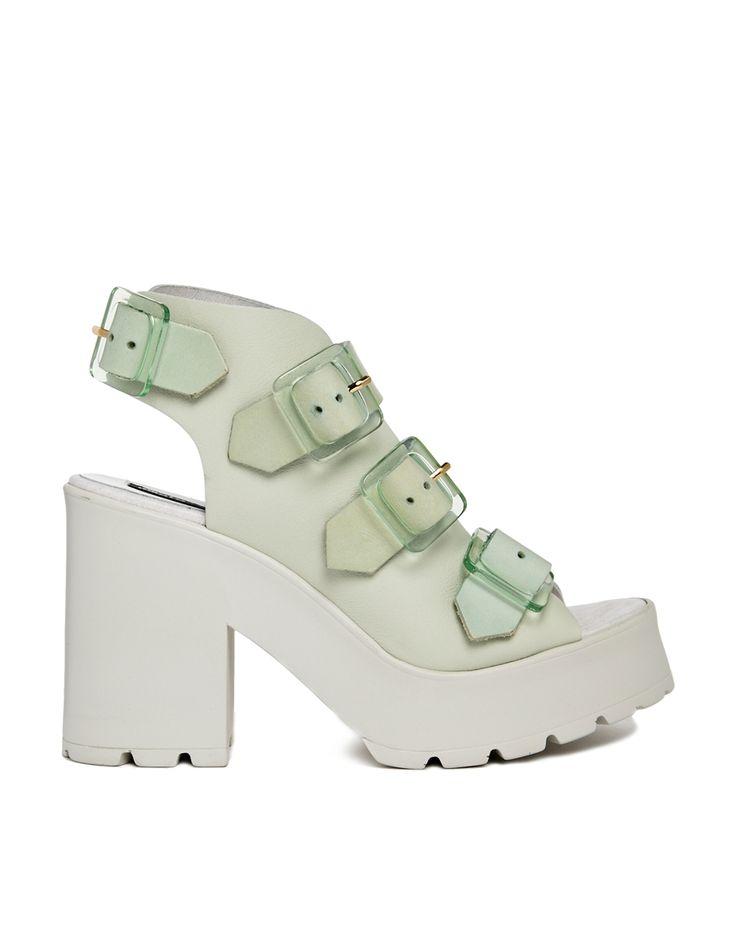 Miista+Amber+Mint+Buckle+Heeled+Sandals