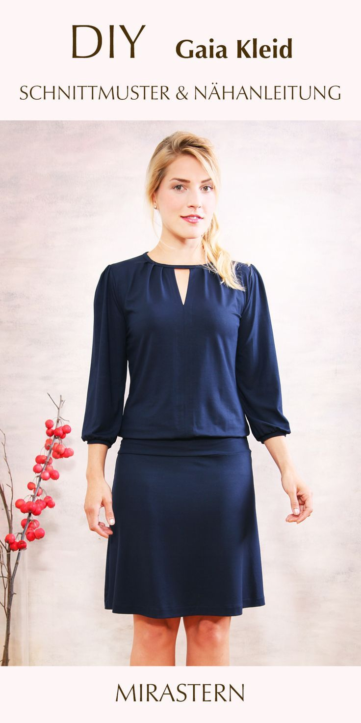 diy schnittmuster kleid gaia selber nähen in 2020