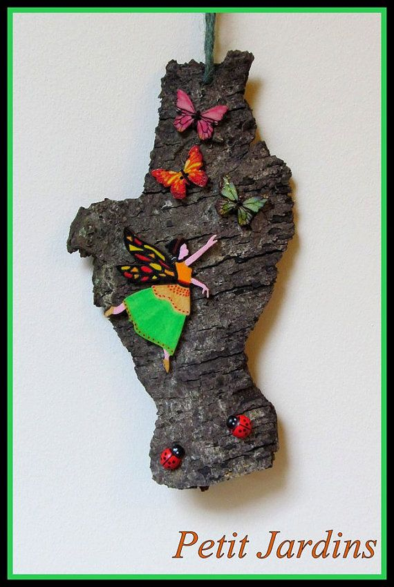 Fairy Wall hanging Chasing Butterflies. by PetitJardins on Etsy