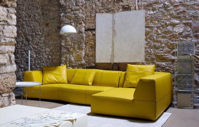 Yellow Bend sofa by B&B Italia