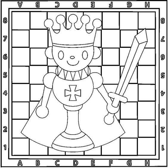 кителе шахматные картинки раскраски изначально сделала