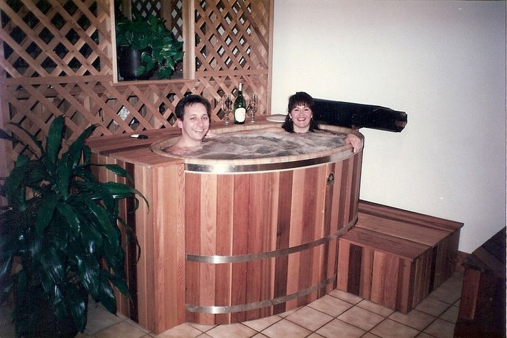 Our smallest cedar hot tub is the tub for two perfect for Balcony hot tub