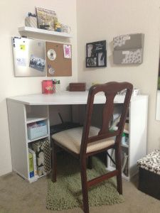 This Compact Office Space Is Actually In The Corner Of Our Bedroom