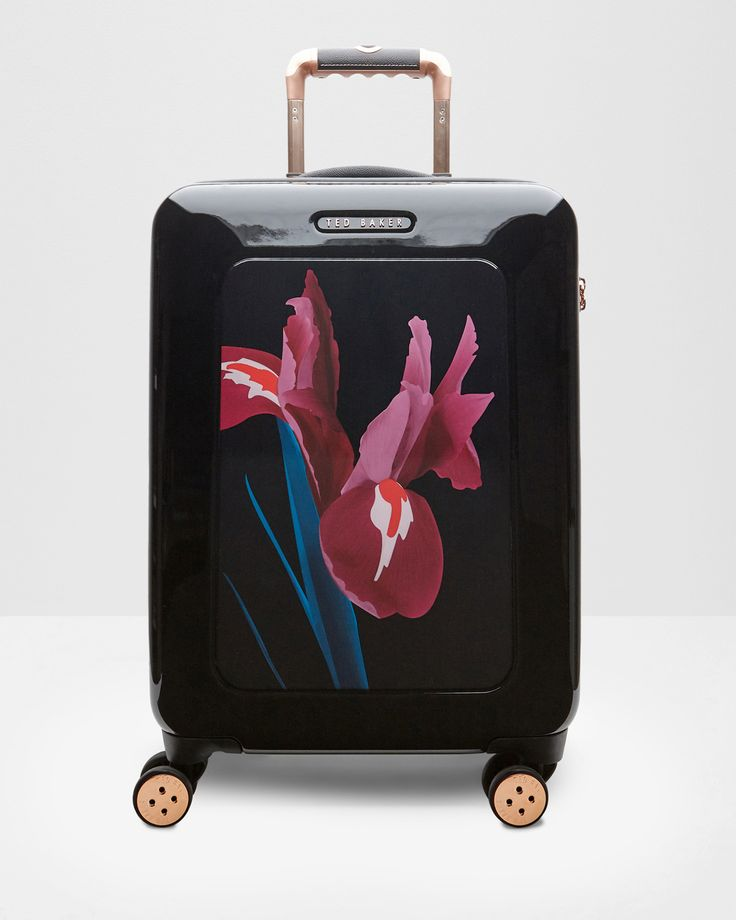 Stencilled Stem large suitcase - Black | Bags | Ted Baker ROW