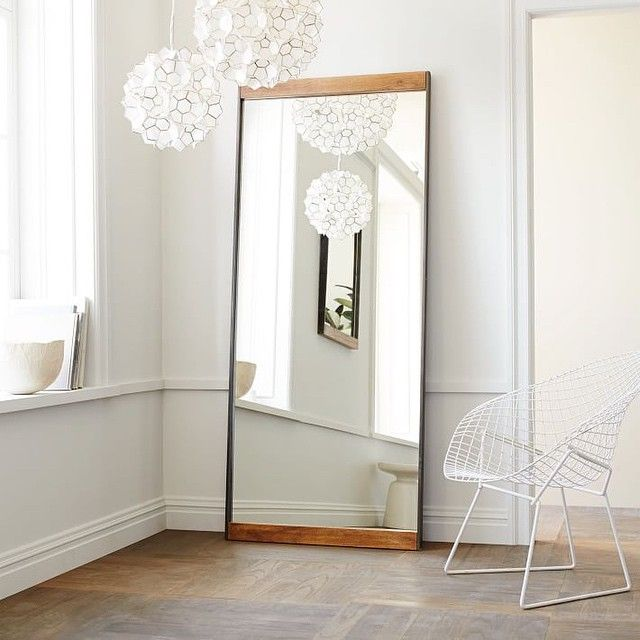 """Our ✨NEW✨ Metal + Wood Floor Mirror is inspired by old industrial spaces, but we love seeing it in a clean white room. It's all about the contrast. Click the link in our profile to shop. #westelm #mirror #style"" Photo taken by @westelm on Instagram, pinned via the InstaPin iOS App! http://www.instapinapp.com (03/31/2015)"
