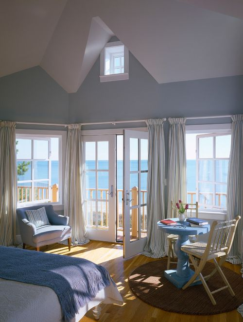 Love this bedroom! Reading area and small dining area.....perfect for the views, especially the sunrises.