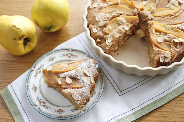 Nutmegs, seven: Quince and marzipan cake
