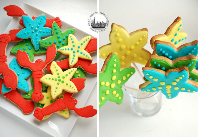 """Under the sea"" themed decorated cookies!"