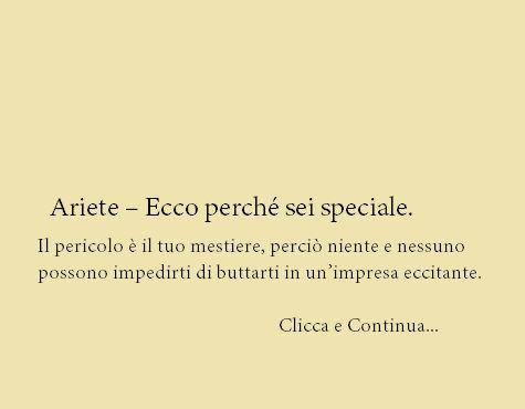 Ariete – Ecco perché sei speciale.