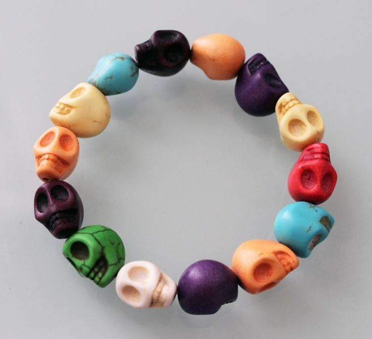Candy skull bracelet for only $9.99