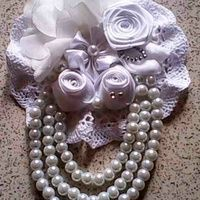 Full White Princess Corsage Brooch Bros Cantik