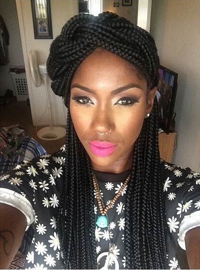 Sensational 1000 Ideas About Box Braids Styling On Pinterest Box Braids Hairstyles For Women Draintrainus
