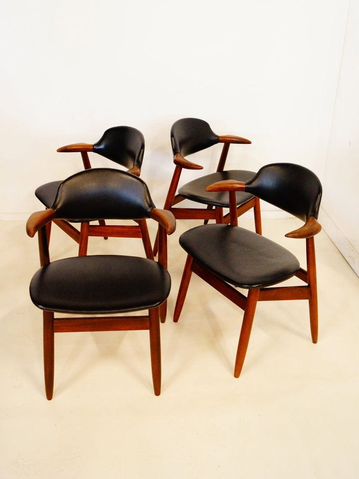 Tijsseling; 'Cowhorn' Chairs by Hulmefa Propos, c1960. Wooden ChairsMid  Century ...