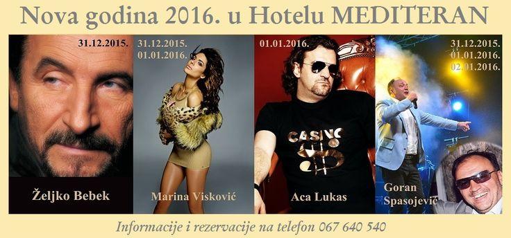 9 best Doček 2016. u Hotelu Mediteran u Bečićima! images on ...