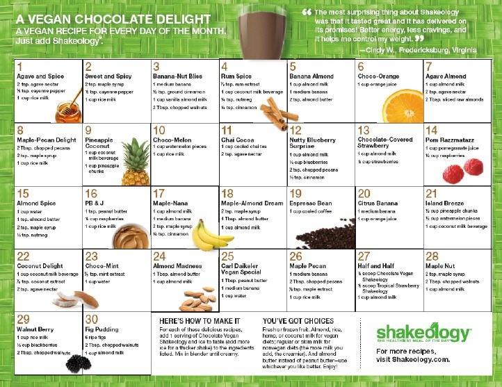 Vegan Chocolate Recipe Calender