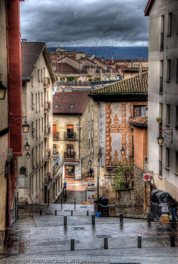 Casco Viejo de Vitoria-Gazteiz, País Vasco, España Gasteiz Zaharra, Euskadi V...