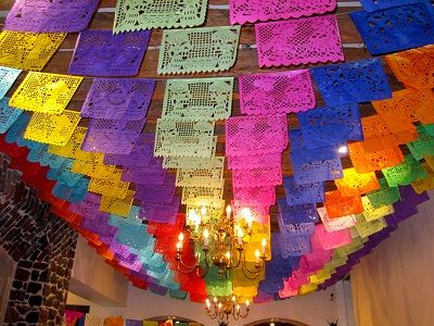 Colourful Papel Picado Decorations