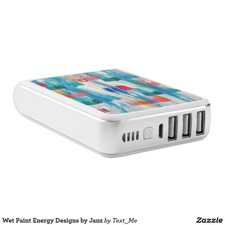 Wet Paint Energy Designs by Janz Power Bank Iphone Charger