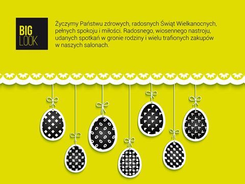 Wkrótce Wielkanoc, dlatego już dziś życzymy Państwu zdrowych, radosnych Świąt Wielkanocnych, pełnych spokoju i miłości. Radosnego, wiosennego nastroju, udanych spotkań w gronie rodziny i wielu trafionych zakupów w naszych salonach