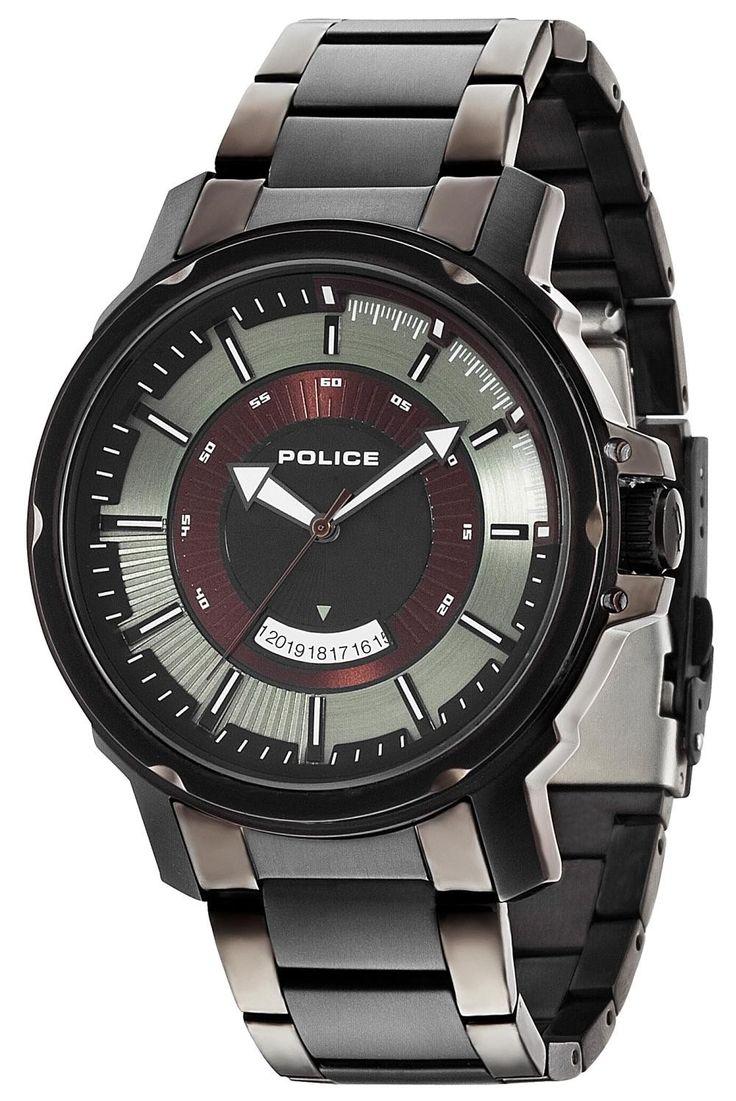 Police Uhr Herren Armbanduhr P14382JSU-19M Edelstahl grau