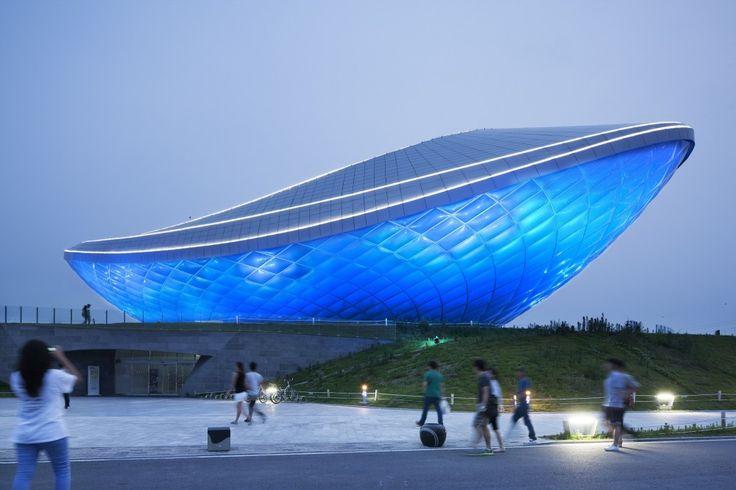 The ARC- River Culture Multimedia #Theater Pavilion / Asymptote #Architecture /