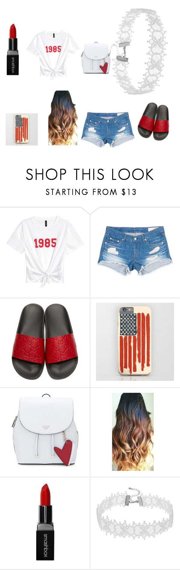 """casual  ♡♡baddie gal"" by syr-ina ❤ liked on Polyvore featuring rag & bone/JEAN, Gucci and Smashbox"