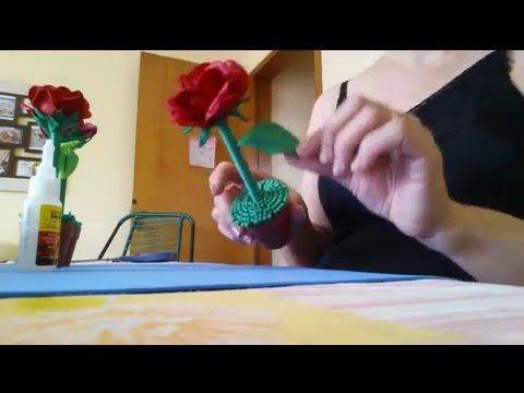 """rosa """" PORTA  CANETA '' em EVA"""