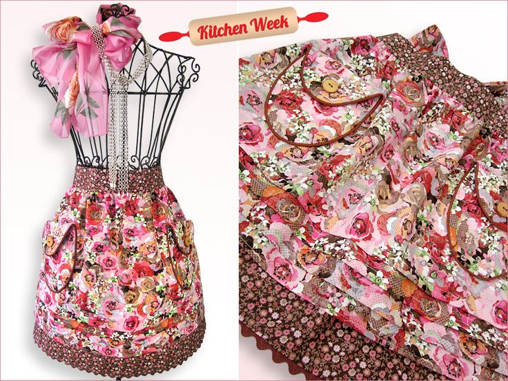 Double Layer Half Apron with Pockets, Tucks & More  Wow, this is beautiful!