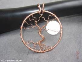 Anhänger Baum des Lebens mit Vollmond ::: VERKAUFT ::: kann auf Wunsch angefertigt werden - Bild vergrößern