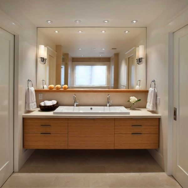Bathroom Lights Mounted On Mirror 108 best bathroom - lighting over mirror images on pinterest