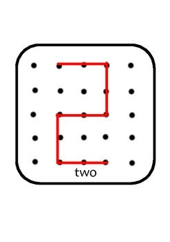 Geo Board numbers from 0-9. Great for math bins, play-based learning, and numeracy lessons.
