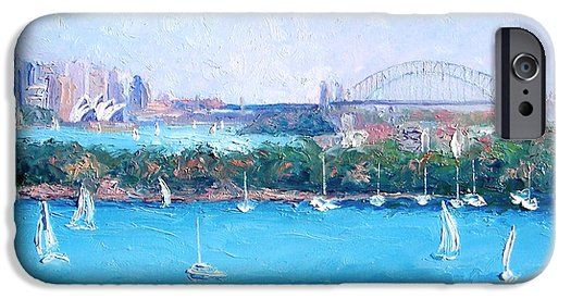 Sydney Harbour and the Opera House by Jan Matson phone cases