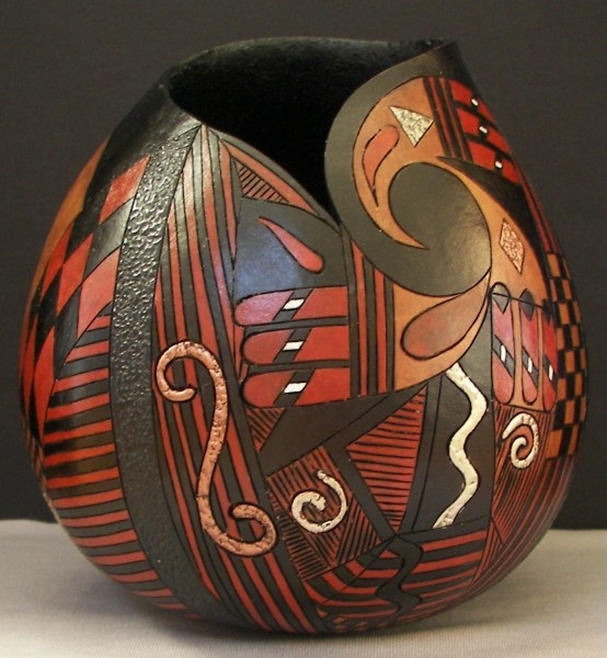 Gourd Texture and Finishes Geo Gourd F inished