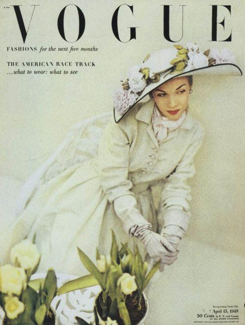 Vogue April 1948 John Rawlings cover
