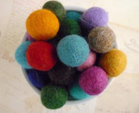 2cm CYAN AQUA BLUE Felt Balls x20.Wool.Party Decor.Pom poms.Felt Ball.Wholesale.
