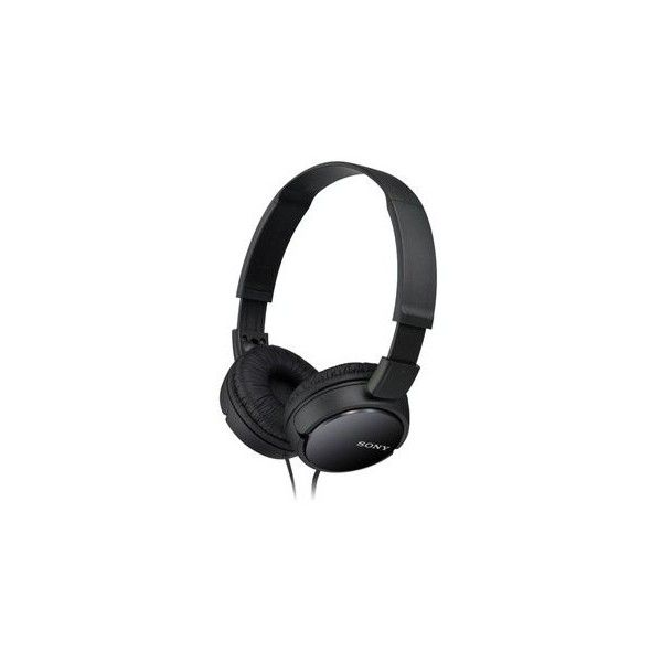 Sony Black Supra-Aural Closed-Ear Headphones (86 BRL) ❤ liked on Polyvore featuring accessories, tech accessories, ear bud headphone, earbud headphones and headphones earbuds