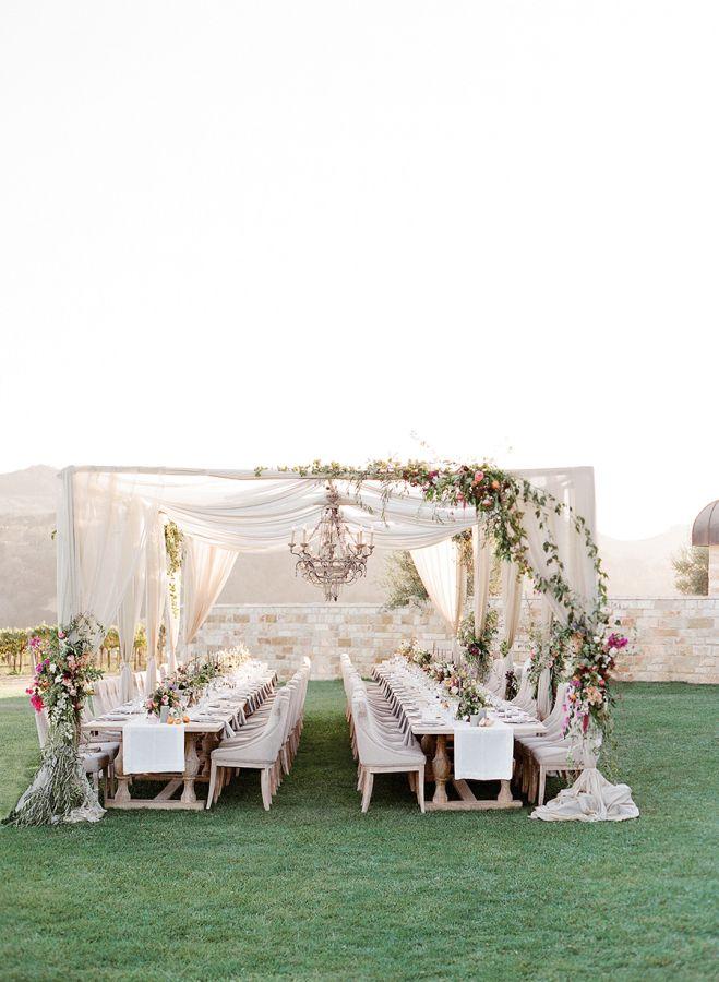 Romantic al fresco whimsical wedding venue: http://www.stylemepretty.com/2017/05/01/whimsical-alfresco-wedding-in-santa-ynez/ Photography: Jose Villa - http://josevilla.com/