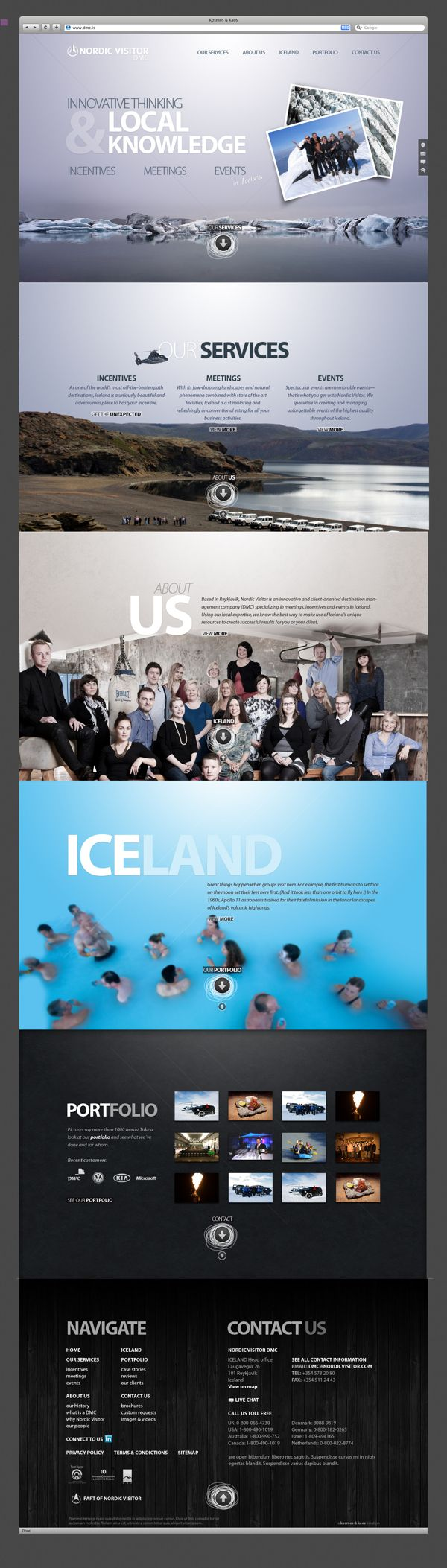DMC - Nordic Visitor by Kosmos & Kaos, via Behance