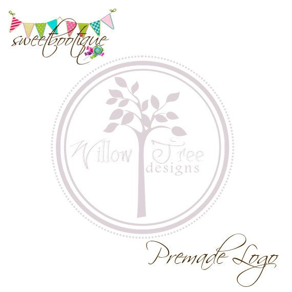 FULLY CUSTOMISABLE  Premade Logo  Willow Tree by SweetBootique