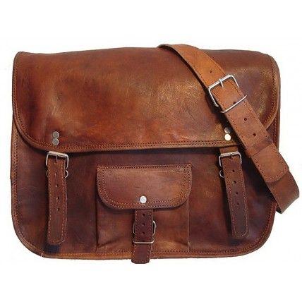 #01 ''COLLEGE'' Skórzana torba na ramię
