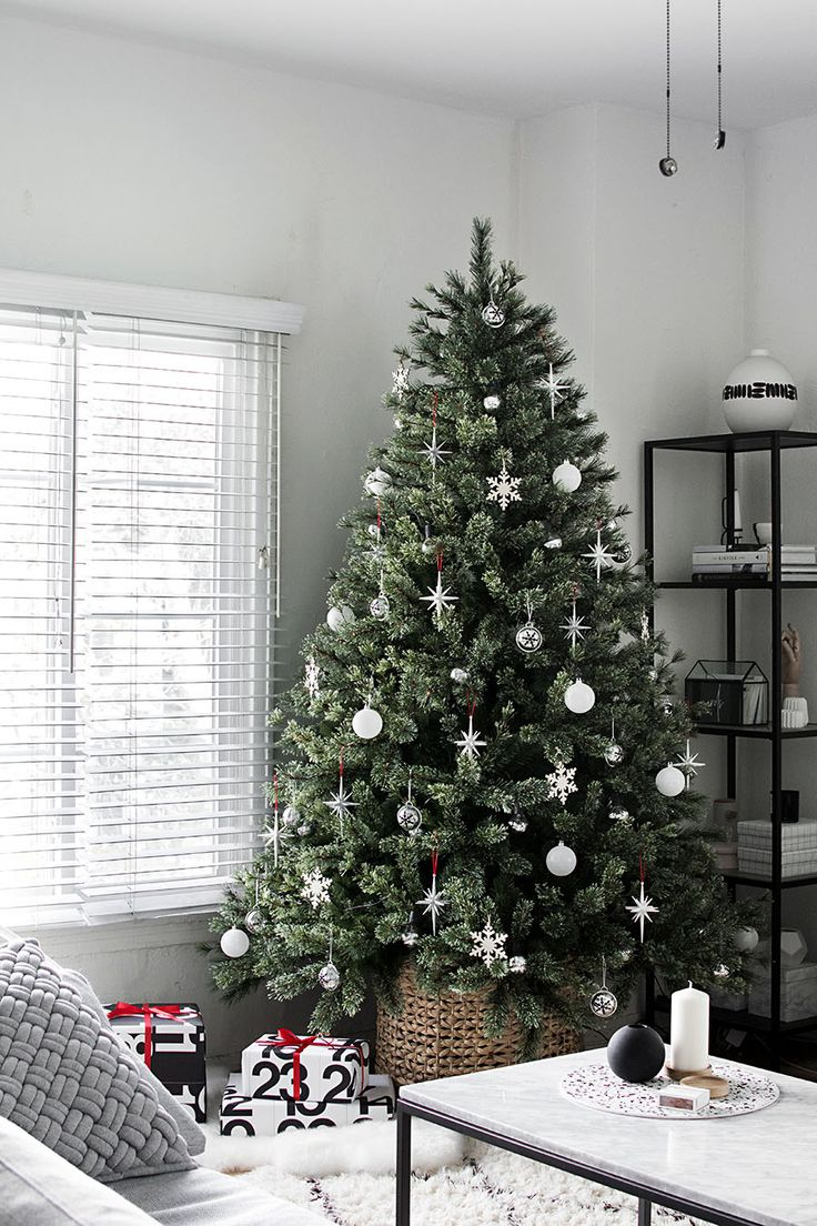 Slim Silver Christmas Tree