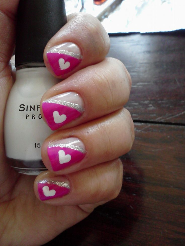 fall in love with 11 valentines day nail art designs