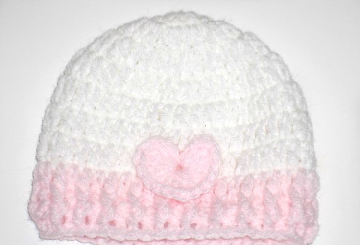 Excited to share the latest addition to my #etsy shop: Valentine Baby Hat,preemie baby hat,Easter hat ,crochet hat.Baby Girl Hat, preemie hat,Beanies for babies,pink and white beanies,newborn hat http://etsy.me/2CsT6zC #accessories #white #babyshower #valentinesday #pi