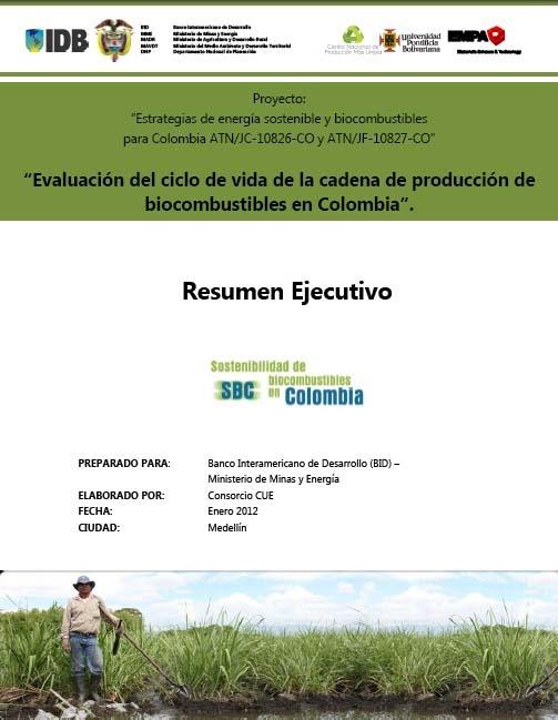 El objetivo del proyecto es evaluar la sostenibilidad de la cadena de producción, distribución y uso de los biocombustibles de caña de azúcar y palma de aceite comparados con los combustibles fósiles equivalentes en Colombia, a fin de demostrar su favorabilidad y comprender acertadamente sus límites.