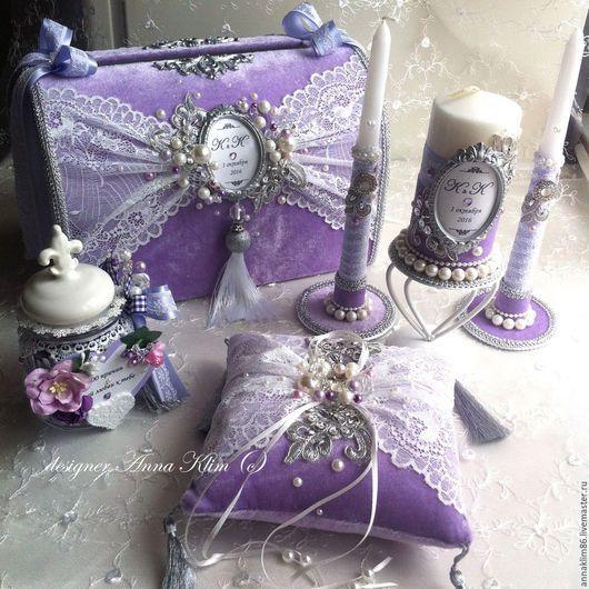 Свадебные аксессуары ручной работы. Сундучок для подарков