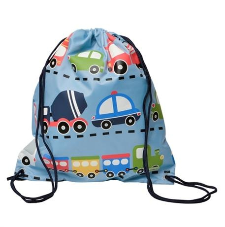 Drawstring Swimming Bag. Would make a good library bag too!  Bobble Art Swimming Bag - Traffic  Price: $24.95  Bobble Art Traffic Drawstring Bag - guaranteed to delight any little boy! Perfect for swimming gear, library bag and just about anything else when you're out & about!