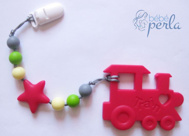 Silicone teething toy - ChewChoo-Sebastian www.bebeperla.com
