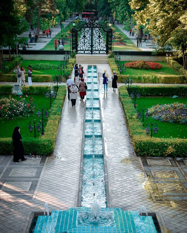 """The historic Ferdows Garden (also called Museum of Cinema)"", one of the most beautiful gardens in Tehran, Iran (Persian: تصویری زیبا از باغ تاریخی فردوس ""موزه سینما"" در تهران ) Credit; M.J. Zeidabadi"
